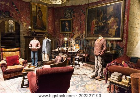 The Set Of Gryffindor Common Room, Leavesden, Uk
