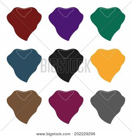 Purple arafatka for cowboy.Scarves and shawls single icon in black style vector symbol stock web illustration.