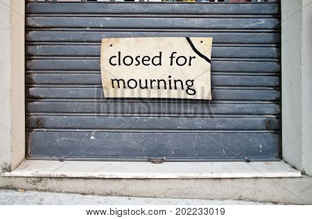 Shop Closed For Mourning