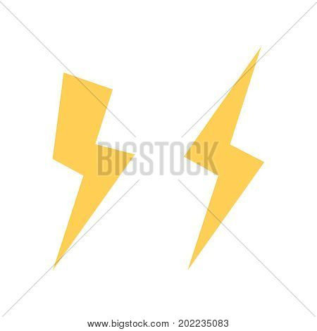 Lightning bolt vector icon. Flash icon. Bolt of lightning vector. Streak of light sign. Electric bolt flash icon. Lightning design element. Thunder strike logo. Charge flash icon. Thunderbolt icon