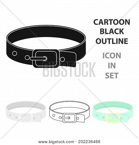 Pet collar icon in cartoon style isolated on white background. Cat symbol vector illustration.