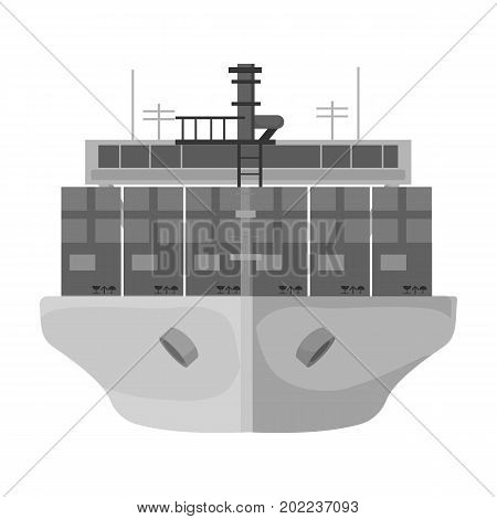 Transportation of goods by sea. Transportation and delivery single icon in monochrome style isometric vector symbol stock illustration .