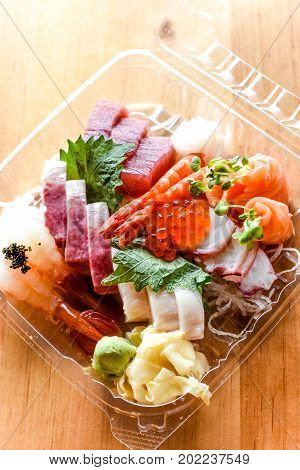 Sashimi Matsu for Carry out with ginger and wasabi