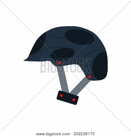Flat Icon helmet isolated on white background head sport protective activity safety design protection vector illustration.