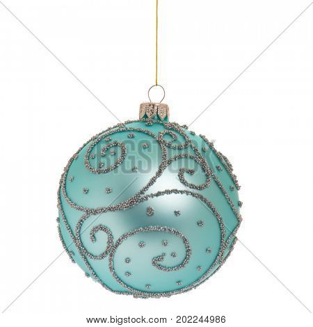 Christmas bauble - ball isolated on white background
