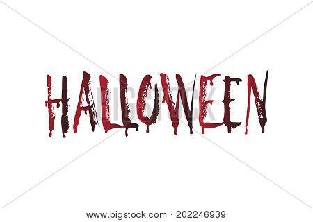 Vector Halloween design element. Blood Halloween word.