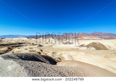 View of Twenty Mule Team Canyon in Death Valley National Park in California