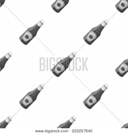 A bottle of ketchup.BBQ single icon in monochrome style vector symbol stock illustration .