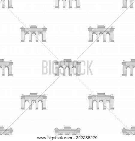 The Belgian arch monument.The dark Belgian wolf. Belgium single icon in monochrome style vector symbol stock web illustration.