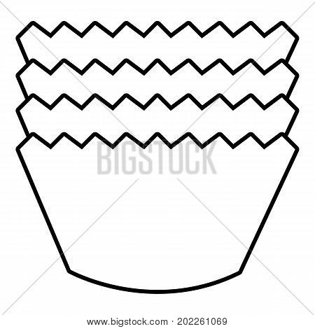 Baking molds icon. Outline illustration of baking molds vector icon for web design isolated on white background