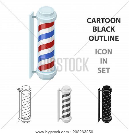 Barber logo.Barbershop single icon in cartoon style vector symbol stock illustration .