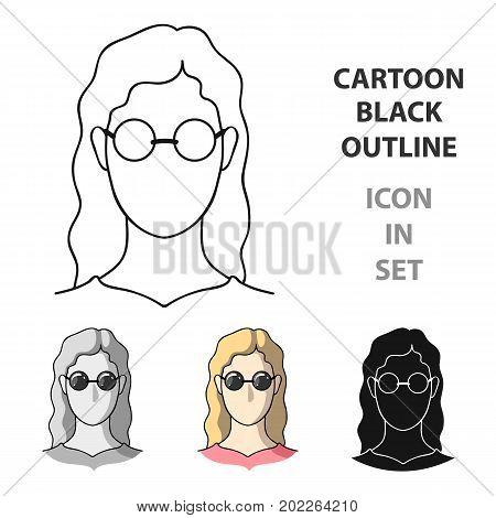 A woman with blond hair with glasses.A blind woman because of diabetes.Diabetes single icon in cartoon style vector symbol stock web illustration.