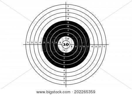 target shooting classical black and white color