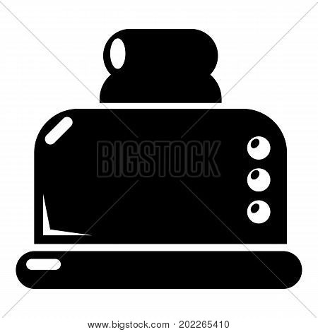 Steal toaster icon . Simple illustration of steal toaster vector icon for web design isolated on white background