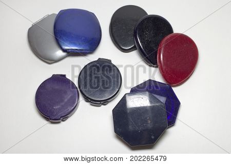 Set Of Powder Cases Different Base Form