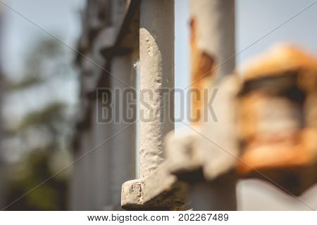 Detail Of An Old Rusty Iron Gate