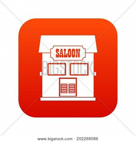 Western saloon icon digital red for any design isolated on white vector illustration