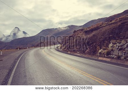 Scenic road in the mountains