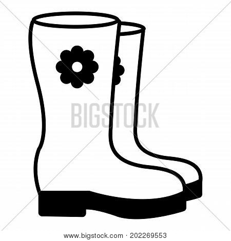 Boots icon. Outline illustration of boots icon vector icon for web design isolated on white background