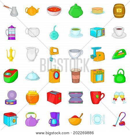 Utensil icons set. Cartoon style of 36 utensil vector icons for web isolated on white background