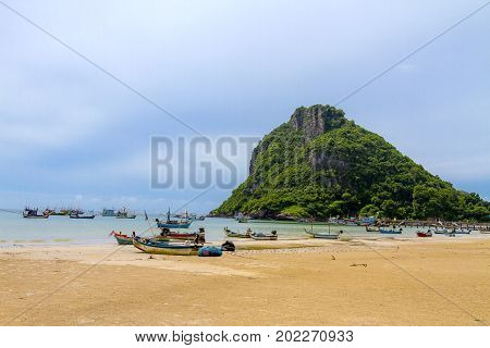 The beach Bang Boet Beach island It the rain Chumphon Province Thailand is famous for travel