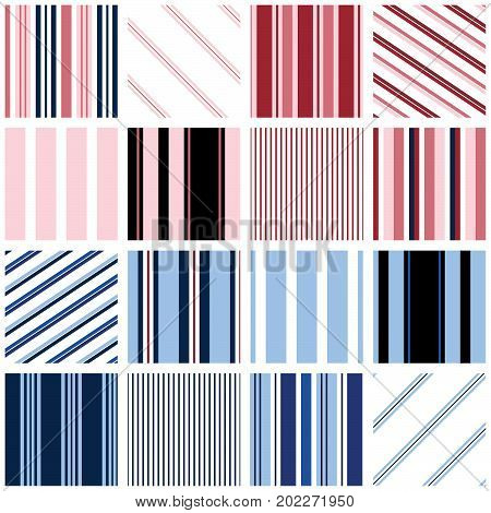 Stripes - 16 seamless stripe patterns for digital paper, scrapbooking, invitations, announcements, gift wrap, backgrounds, borders and more.