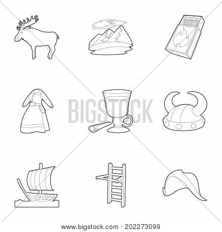 Rural life icons set. Outline set of 9 rural life vector icons for web isolated on white background