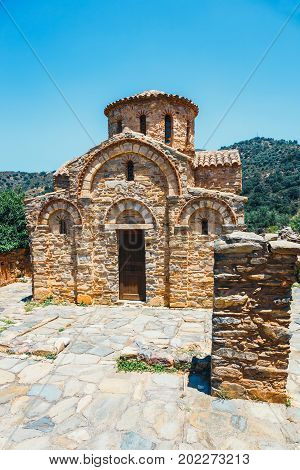 Byzantine Church In Fodele, Crete, Greece. The El Greco's Birthplace