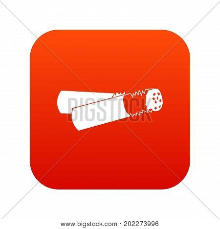 Cigarette butt icon digital red for any design isolated on white vector illustration