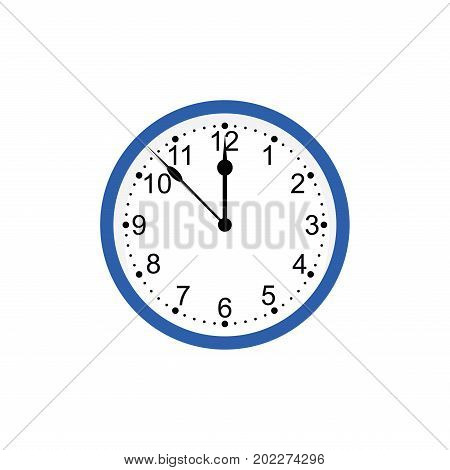 clock isolated on white background.Vector mechanical clock