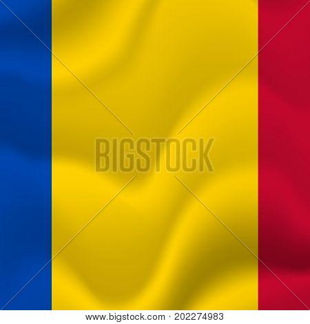 Moldova waving flag. Waving flag. Vector illustration.