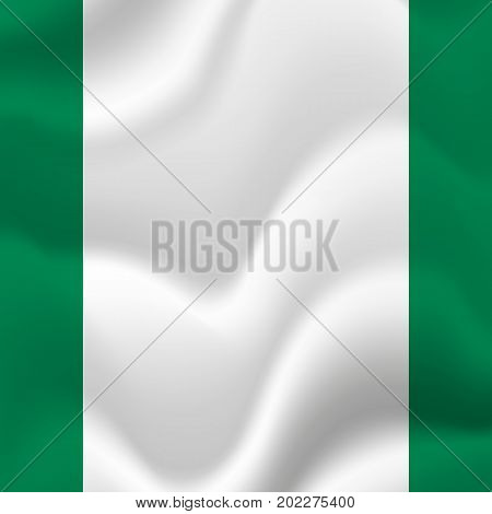 Nigeria waving flag. Waving flag. Vector illustration.