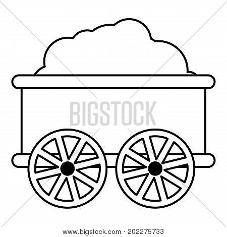 Train wagon icon. Outline illustration of train wagon vector icon for web design isolated on white background