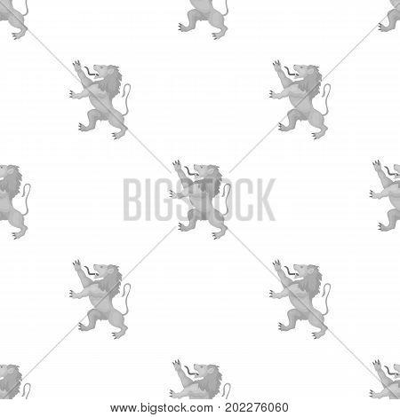Golden lion symbol of belgium.The dark Belgian wolf. Belgium single icon in monochrome style vector symbol stock web illustration.