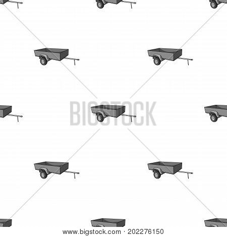 Trailer with sides for the car.Car single icon in monochrome style vector symbol stock illustration .