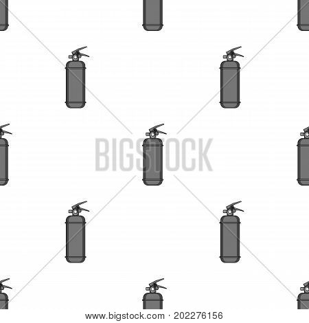 Fire extinguisher powder.Car single icon in monochrome style vector symbol stock illustration .