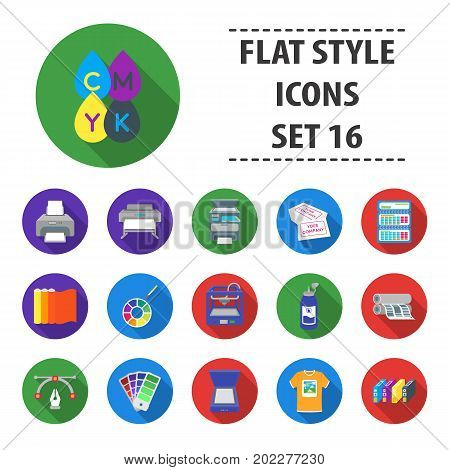 Typography set icons in flat style. Big collection typography vector symbol stock