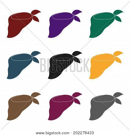 Blue bandage on the neck for beauty.Scarves and shawls single icon in black style vector symbol stock web illustration.