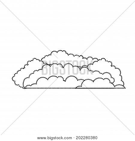 cloud cumulus monochrome silhouette dotted vector illustration