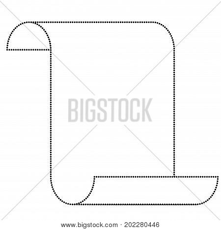 sheet continuously monochrome silhouette dotted vector illustration