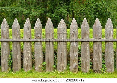 Wooden fence in the fortress of Lappeenranta Finland.