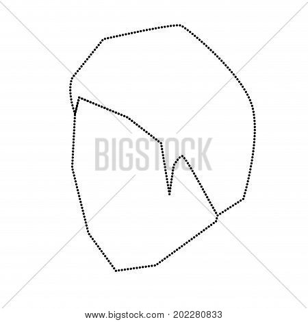 man head faceless with short hairstyle monochrome silhouette dotted vector illustration