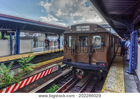 Nyc Vintage Subway Train