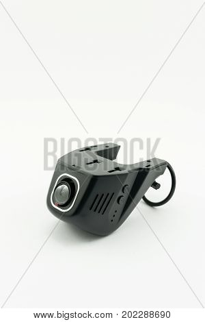 Car DVR Front camera car recorder isolated on white background