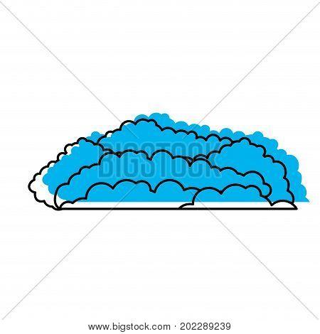 cloud cumulus blue watercolor silhouette vector illustration