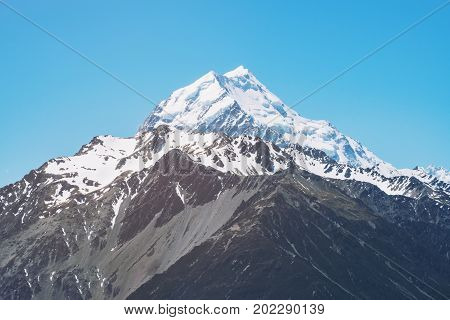 Close Up View Of Mt Cook In New Zealand
