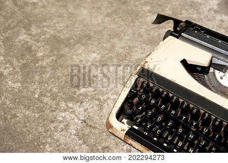 Vintage Typewriter, Retro old typewriter with vintage style.