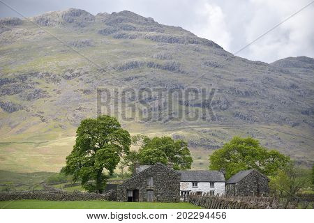 Farmhouse in Dunnerdale in the English Lake District