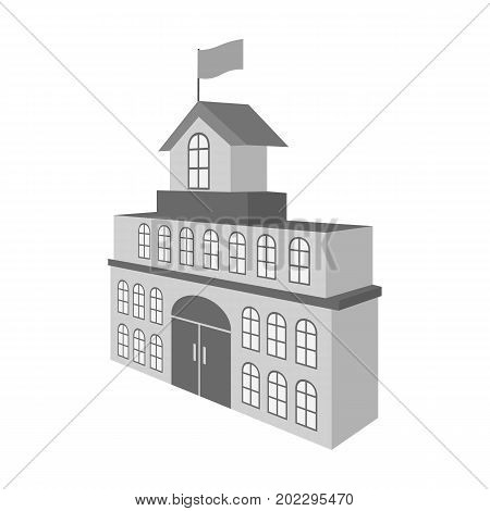 The building of the town hall. City Hall Building single icon in monochrome style vector symbol stock illustration .