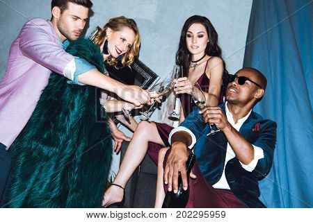 Group Of Friends On Party